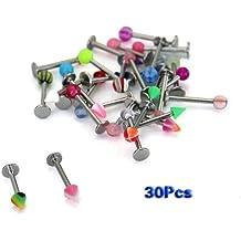 30 acero 316 varios Diseño de bolas de cristal anillo oreja o para el labio borde de Bar