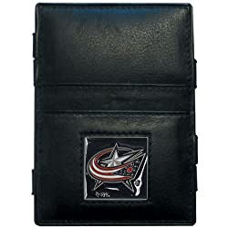 NHL Columbus Blue Jackets Genuine Leather Jabob's Ladder Magic Wallet