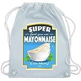 Karneval & Fasching - Mayonnaise Kostüm - Unisize - Pastell Blau - WM110 - Turnbeutel & Gym Bag