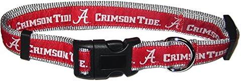 Pets Erste Collegiate Alabama Crimson Tide Pet Halsband,
