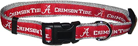 Pets Erste Collegiate Alabama Crimson Tide Pet Halsband, klein