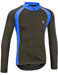 Mens Sprint L/S Shirt/Jersey - Black/Blue - Med