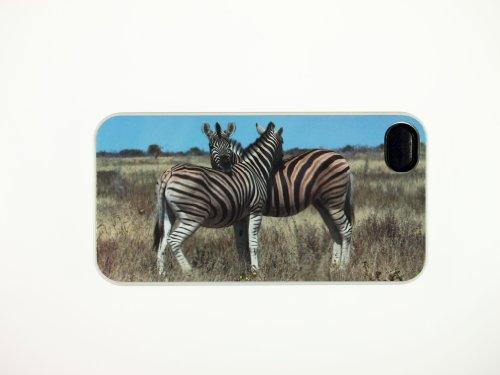 nomor Elies photo de Coque Apple iPhone 4(Blanc) Namibie Kuschelnde Zèbres