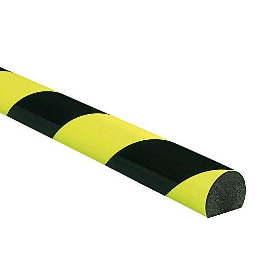 Wie Profil Menschen (KNUFFI Flächenschutzprofil Typ C, selbstklebend, fluoreszierend, nachleuchtend, gelb/schwarz, 1 m aus Kunststoff)