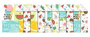 Ursus 11482299 - Caja de cartón para Fotos, 10 Hojas, 300 g/m², Aprox. 49,5 x 68 cm, Surtido en 2, celulosa Fresca, Impreso por Ambos Lados, Parte Delantera con Motivos veraniegos, Multicolor