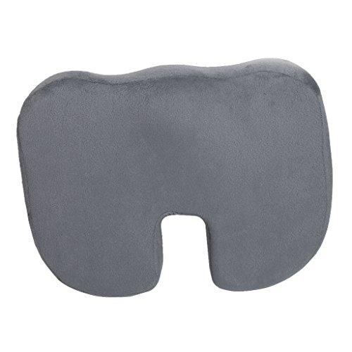 Premium Ultra Komfort Steißbein Orthopädische Schaum Stuhl Kissen Sitzpolster Startseite Büro (Grau)