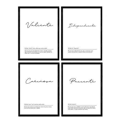 Nacnic Set Cuatro láminas definiciones