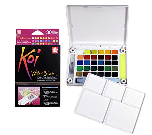 Sakura Koi Aquarell Pocket Field Sketch Box 30Farben, Farben Sortiert Acryl, Mehrfarbig -