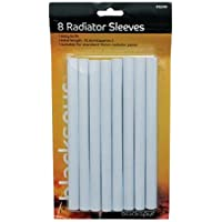Radiator pipe covers sleeves white 15mm - 8 pack