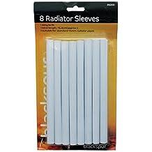 Blackspur - Fundas para radiador (15 mm, 8 unidades), color blanco