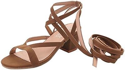 Sandalias de vestir, SHOBDW Zapatos mujer plataforma esparto bajos Zapatillas Talones