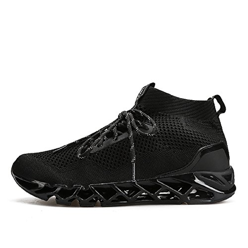 Lily999 Hommes En Plein Air Sport Sneakers Extérieur Basketball Tennis Running Sneakers Respirant Mesh Chaussures Noir