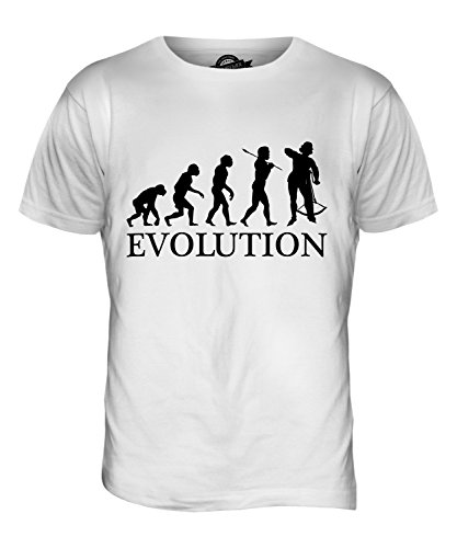 CandyMix Armburst Armbrustschützen Evolution Des Menschen Herren T Shirt Weiß