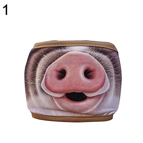 NimbleMinLki Mundmaske, für Paare, für Outdoor-Aktivitäten, winddicht, halbes Gesicht, Schweinchen, Nase, Mundmaske – 2#