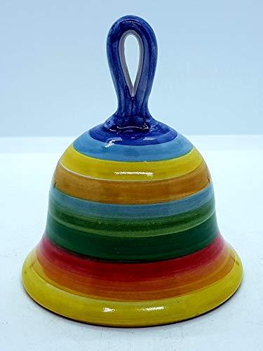Campanella in ceramica multicolore pezzo unico handmade le ceramiche del castello made in italy