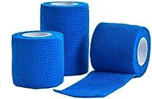 CMS Médico 5cm x 4,5m venda azul-Pack de 3
