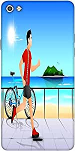 Snoogg Abstract Summer Background Designer Protective Back Case Cover For Micromax Canvas Silver 5 Q450
