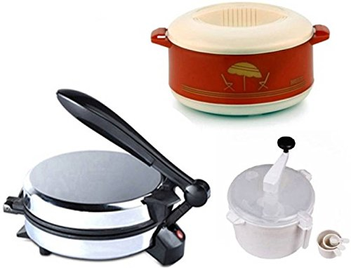 FAVY Eagle Quality Roti Maker combo (Eagle with Demo CD) With Dough Atta Maker & Casserole FREE S-Gold-350.  available at amazon for Rs.1499