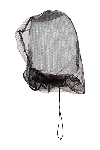 Mountain Warehouse Kopfnetz als Mückenschutz - Leichtes Moskitonetz, Insekten-Netzbeutel zum Wegpacken, verstellbar, elastischer Kordelzug - Ideal für Reisen, Camping Schwarz