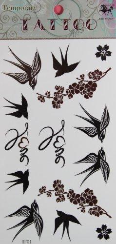GGSELL GGSELL ROI HORSE vente chaude Nouvelle Hirondelle de conception et de prune stckers de tatouage temporaire