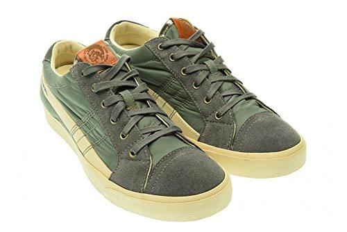 DIESEL - Baskets basses - Homme - Sneakers lacets Diesel gris clair D-String Low pour homme