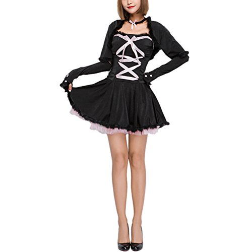 Zhuhaitf Verkleiden sich Funny Halloween Maid Cosplay Costumes Performance Stage Show Christmas Gift Spaßkleid for Women's Party