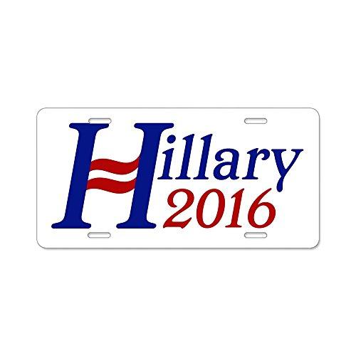 CafePress-Hillary 2016Aluminium Nummernschild-Aluminium Nummernschild, vorne Nummernschild, Vanity Tag
