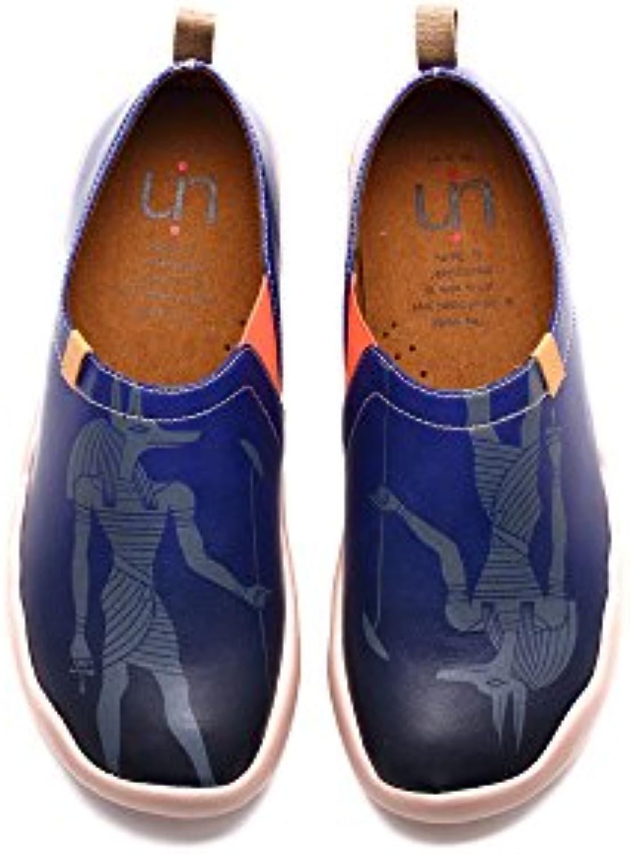 UIN Anubis Zapato de cuero cómodos Azul para los hombres (42)