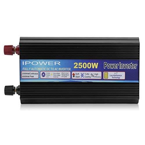 Hehilark Spannungswandler Ladegerät 2500 5000W Kfz-Wechselrichter Inverter Stromwandler DC 12 V auf AC 220-230 mit USB-Anschlus (TY-GAX2500)