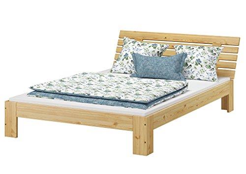 Erst-Holz® Französisches Bett 140 x 200 cm Kiefer massiv mit Rollrost 60.67-14-Tina