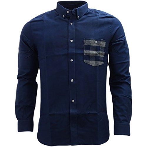 french-connection-camisa-casual-basico-con-botones-manga-larga-para-hombre-azul-azul-marino-large