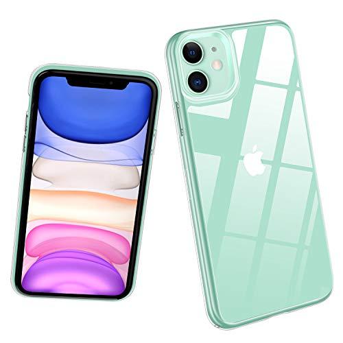 Promixc Handyhülle für iPhone 11 Hülle, 9H Gehärtetes Glas Rückseite mit TPU Rahmen HD Hybrid iPhone 11 Handyhülle Kratzfeste Schutzhülle mit Ultra-Dünn Bumper Case für iPhone 11 6,1