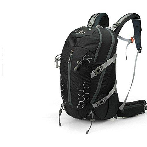 A new day-Zaino outdoor alpinismo borsa 30L uomini e donne multi-funzionale alpinismo pacchetto equitazione borsa a tracolla coreana impermeabile zaino , black