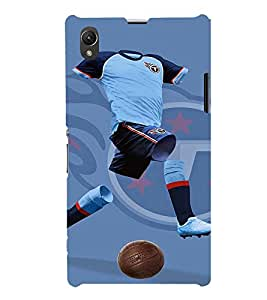 EPICCASE football run Mobile Back Case Cover For Sony Xperia Z1 (Designer Case)
