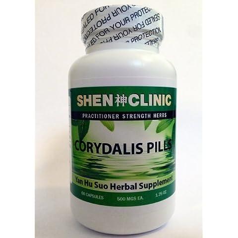 Corydalis Capsules - Yan Hu Suo - 500 Mg, 60