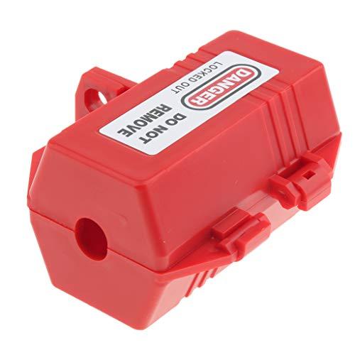 H HILABEE Steckerschloss Abschließbare Stromstecker Schutzbox für 7mm Vorhängeschlösser (Steckersafe)