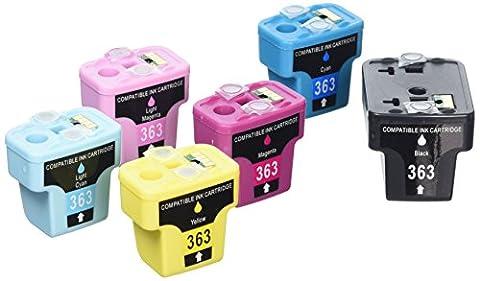 Prestige Cartridge HP 363 Lot de 12 Cartouches d'encre compatible avec Imprimante Photosmart 3100 3108 3110 3200 3210 3310 8200 8230 8250 C5100 C5140 C5150 C5160 C5170 C5173 C5175 C5180 C5185 C5190 C5194 C6150 C6160 C6170 C6175 C6180 C6185 C6190 C6200 C6240 C6250 C6270 C6280 C6283 C6284 C6285 C6288 C7150 C7170 C7180 C7183 C7185 C7190 C7200 C7250 C7270 C7275 C7280 C8150 C8170 C8180 C8183 D6100 D6160 D7100 D7145 D7155 D7160 D7163 D7168 D7180 D7260 D7280 D7300 D7345 D7355 D7360 D7460 D8200 D8230 D8250 P3210, Noir/Cyan/Magenta/Jaune/Cyan Clair/Magenta Clair