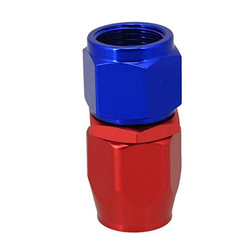 WEONE rosso e blu alluminio lucidato AN-8 diritto girevole del tubo flessibile estremità dell'adattatore Fuel Oil