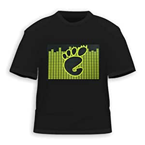 HDE Foot Equalizer Sound Activated LED T-Shirt (XXL)