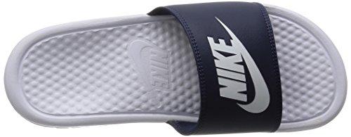 Nike Benassi Jdi Mismatch, Tongs Homme Marine Blanc