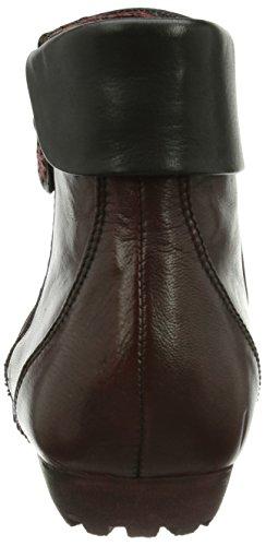 Piazza 990724 Damen Kurzschaft Stiefel Rot (sangria/schwarz)