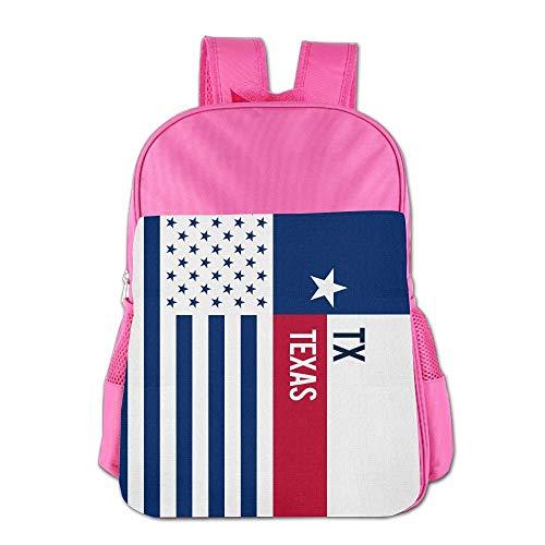 Wfispiy Schulrucksack American Texas Flag Elementary Jungen Mädchen Bookbag