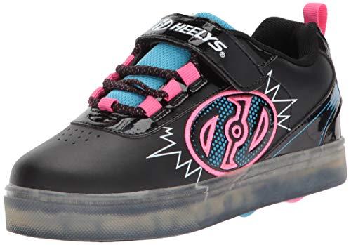 Heelys Unisex-Kinder X2 Fitnessschuhe, Mehrfarbig (Black Blue/Neon Pink 000), 30 EU (Pair Mädchen Kostüm Für Jungen)