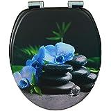 EISL EDBLO01SC Blue Orchid Abattant WC en MDF avec frein de chute