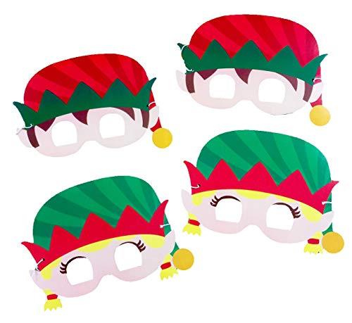Elf Card Face Eye Masks 4 Pack + Dots