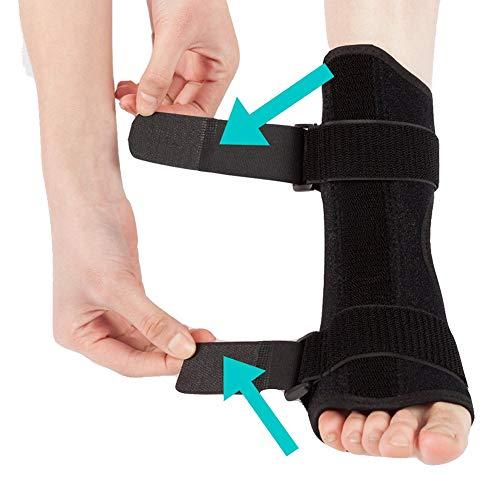 Plantar Fasciitis dorsalen Nacht & Tag Schiene Fußorthesen Stabilisator verstellbarer Drop Fuß Orthotic Brace Support Schmerzlinderung -
