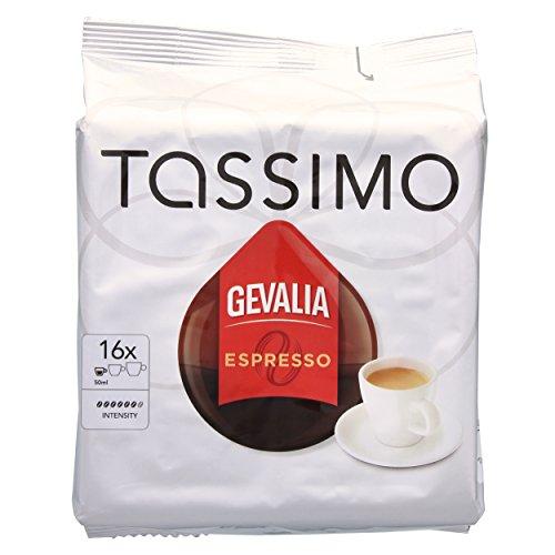 Tassimo Gevalia Espresso, Kaffee, Kaffeekapsel, gemahlener Röstkaffee, 16 T-Discs (T-discs Kaffee Gevalia)