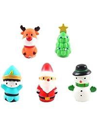 TOYANDONA 5Pcs Juguete de Marionetas de Mano Juguetes de Navidad Muñecos de Nieve Muñeco de Nieve de Santa Claus Juguete
