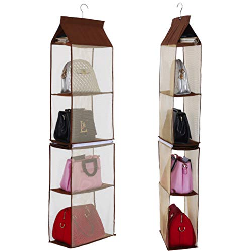 Detachable 6 Compartment Organizer Pouch Hanging Handbag Organizer Clear