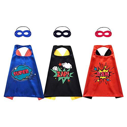 Dmazing Capa y máscara de superhéroe para niños